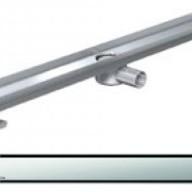 Душ-канали с хоризонтални фланци и решетка от неръждаема стомана Solid , 90 см.