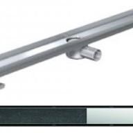 Душ-канали с хоризонтални фланци и решетка от неръждаема стомана Twist , 90 см.