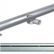 Душ-канали с хоризонтални фланци и решетка от неръждаема стомана Stripe , 80 см.