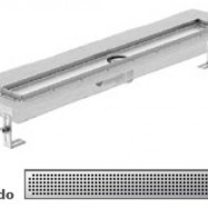 Душ-канали с хоризонтални фланци и решетка от неръждаема стомана Quadrato , 80 см.
