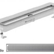 Душ-канали с хоризонтални фланци и решетка от неръждаема стомана Quadrato , 90 см.