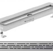 Душ-канали с хоризонтални фланци и решетка от неръждаема стомана Mix , 80 см.