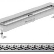 Душ-канали с хоризонтални фланци и решетка от неръждаема стомана Pixel , 70 см.