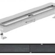 Душ-канали с хоризонтални фланци и решетка от неръждаема стомана Tile , 80 см.
