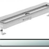 Душ-канали с хоризонтални фланци и решетка от неръждаема стомана Solid , 100 см.
