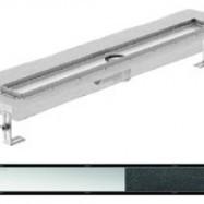 Душ-канали с хоризонтални фланци и решетка от неръждаема стомана Twist , 80 см.