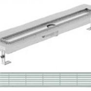 Душ-канали с хоризонтални фланци и решетка от неръждаема стомана Linear , 100 см.