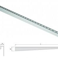 Електрополиран дизайнерски преход, ляв , 1490/10 мм.