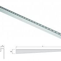 Електрополиран дизайнерски преход, десен, 990/15 мм.