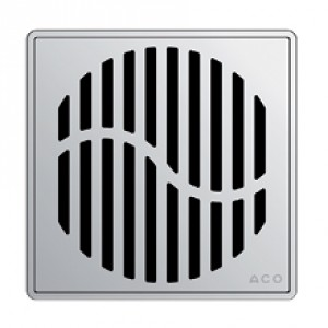 Kвадратна решетка от неръждаема стомана Wave със заключване