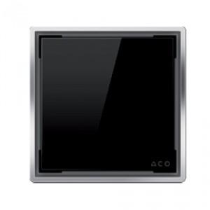 Kвадратна решетка от дизайнерско стъкло черно