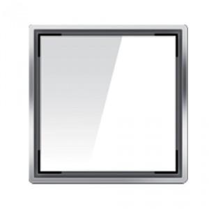 Kвадратна решетка от дизайнерско стъкло бяло