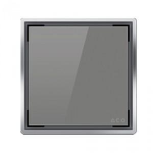 Kвадратна решетка от дизайнерско стъкло сиво