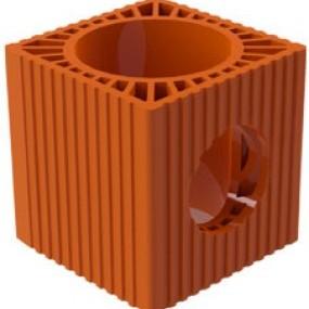 Вентилационен блок ф180 с отвор ф130 VB-18 / 13 , Младост