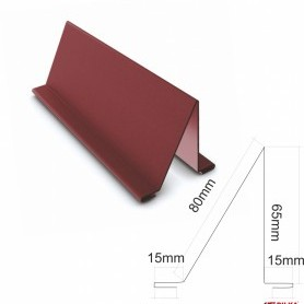Снегозадържащ елемент Гланц 0,50 мм. ECO ral 8003 , 2.0 м.