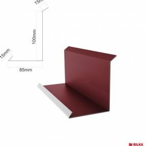 Стенна планка долна 208 мм. , мат 0,50 мм.
