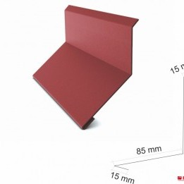 Стенна планка горна 178 мм. , гланц 0.50 мм. ECO , ral 8003