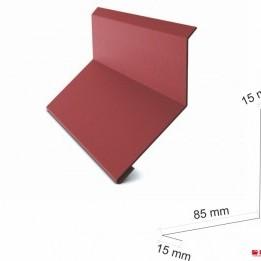 Стенна планка горна 208 мм. , гланц 0.50 мм. ECO , ral 8003