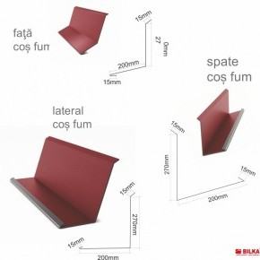Комплект обшивка за комин Гланц 0.50 мм. ECO