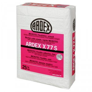 Еластично бързодействащо лепило ARDEX X 77 S MICROTEC