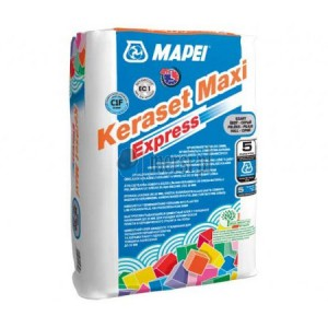 Лепило за керамични плочки и камък Keraset Maxi Express