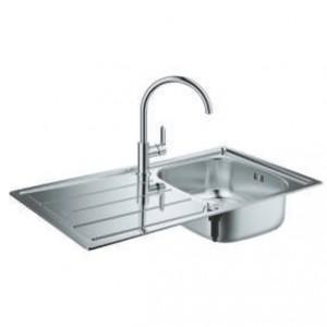 Комплект кухненска мивка и смесител BauEdge