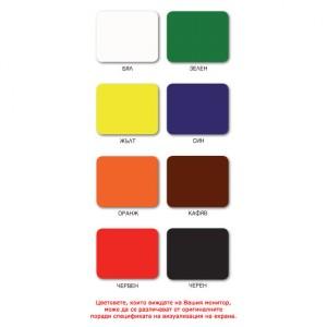 Боя за дърво, метал и бетон АКВАКРИЛ АQ-16 , Жълта , 0.700 л