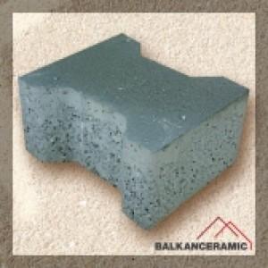 Балканкерамик Паве Бехатон 20x16x6 см. , сиво