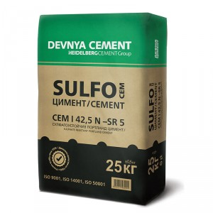 Сулфатоустойчив портланд цимент SULFO CEM I 42,5 N - SR 5