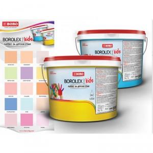 Цветен латекс за детски стаи Боролекс Кидс