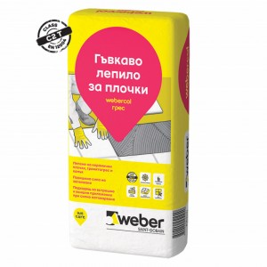 Лепило за гранитогрес и стъклокерамика webercol грес , F606 , 25 кг.