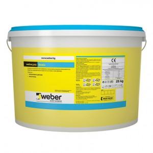 Пастообразна  тънкослойна мазилка weber.pas Elastic C955 , драскана 1,5 мм. , 25 кг.