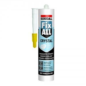 Кристално прозрачно еластично лепило-уплътнител Fix All Crystal
