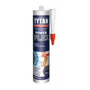 Прозрачно монтажно лепило TYTAN PROFESSIONAL  POWER FLEX , 290 мл.