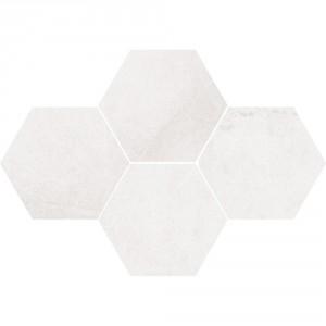 Mosaic Hexagon Durban White 28,3x40,8 , 8 мм.