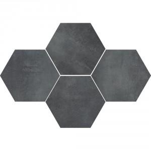 Mosaic Hexagon Stark Graphite , 28,3x40,8