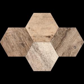 Mosaic Hexagon Timber , 28,3x40,8