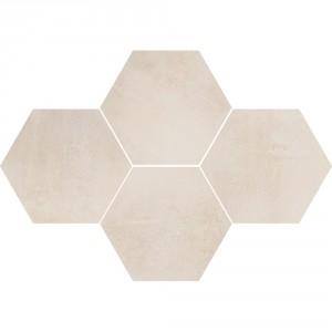 Mosaic Hexagon Stark Cream , 28,3x40,8