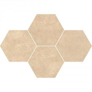 Qubus Beige Mozaika Heksagon 28,3x40,8 , 9.5 мм.