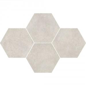 Qubus White Mozaika Heksagon 28,3x40,8 , 9.5 мм.