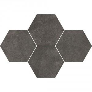 Qubus Antracite Mozaika Heksagon 28,3x40,8 , 9.5 мм.