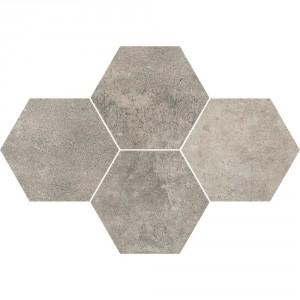 Grey Wind Dark Mozaika Heksagon 28,3x40,8 , 9.5 мм.