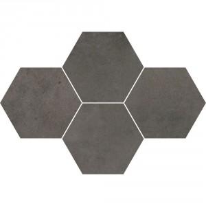 Maxima Dark Grey Mozaika Heksagon 28,3x40,8 , 9.5 мм.
