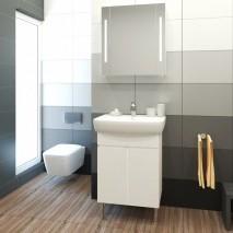 Комплект мебели за баня ЛОРЕНА 60 PVC