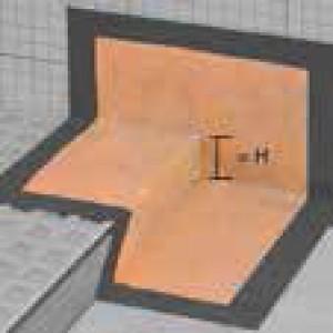 Уплътнителни елементи за ъгли KERDI-KERS , ляв , H=28 мм.