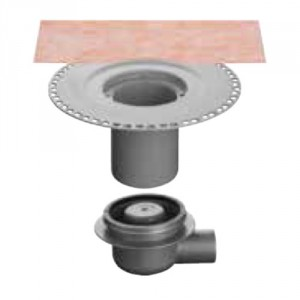 Вътрешен хоризонтален подов сифон с капан за миризми KERDI-DRAIN , KD BH 5070 GVB , DN 50/70 / UK 50 mm
