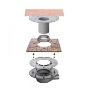 Външен хоризонтален подов сифон без капан за миризми KERDI-DRAIN , KD BH 50 MSBB , DN 50 / UK 50 mm