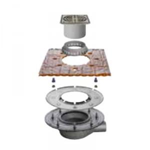Външен хоризонтален подов сифон без капан за миризми KERDI-DRAIN , KD BH 50 ASLVB , DN 50 / UK 50 mm
