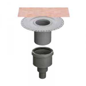 Външен вертикален подов сифон без капан за миризми KERDI-DRAIN , KD BV 50 B , DN 50 / UK 50 mm