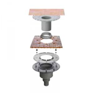 Външен вертикален подов сифон без капан за миризми KERDI-DRAIN , KD BV 50 MSBB , DN 50 / UK 50 mm